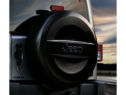 Jeep Wrangler Spare Tire Cover - Hard - Jeep Logo (Part No: 82214306)