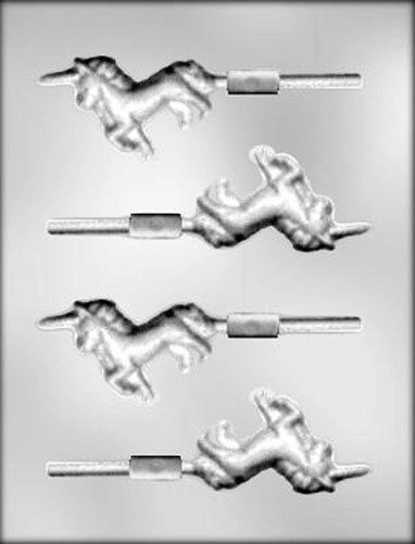 Unicorn Sucker 2 Chocolate Candy Mold Fairy by CakeAndCandyDreams