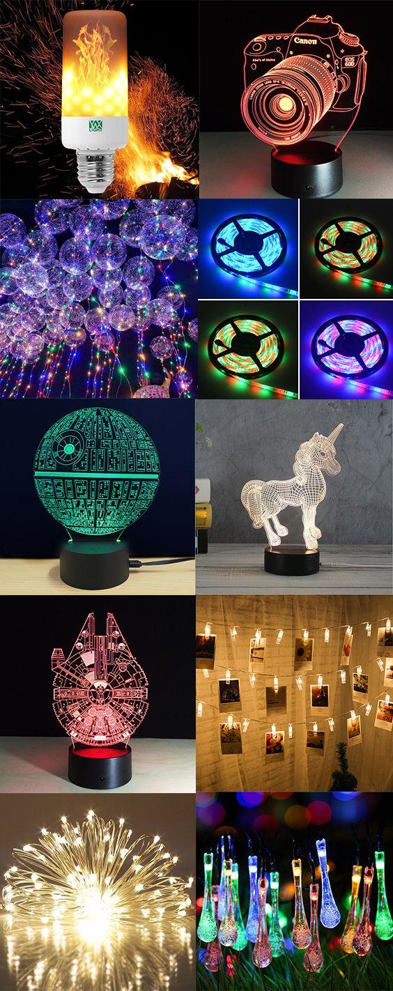 50% OFF Christmas LED Night Lights,Free Shipping Worldwide.#home#homedecor#nightlights#lamps