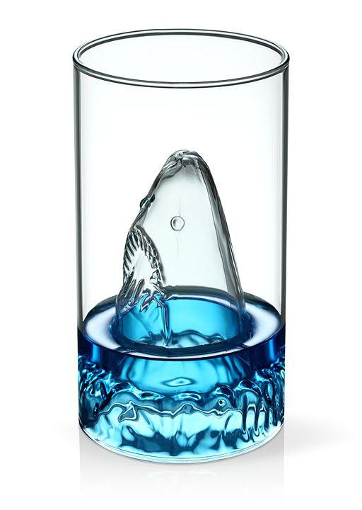 Terror of the Deep Shark Glass
