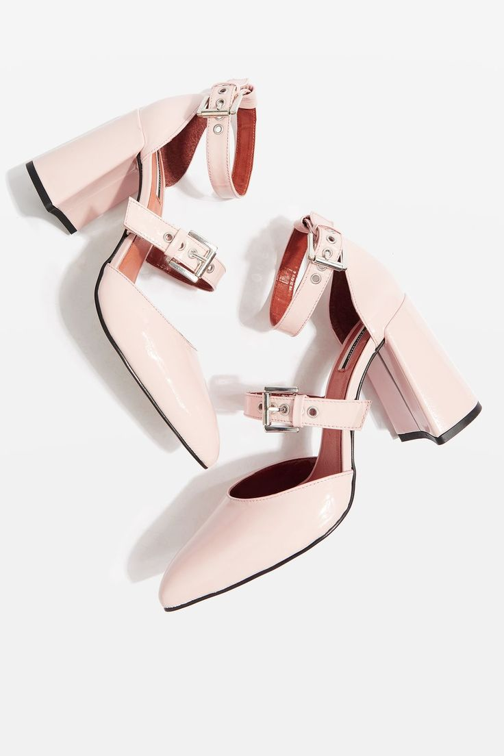 Our definition of pretty in pink? These pink leather multi buckle heels. Perfect for the everyday and for special occasions.