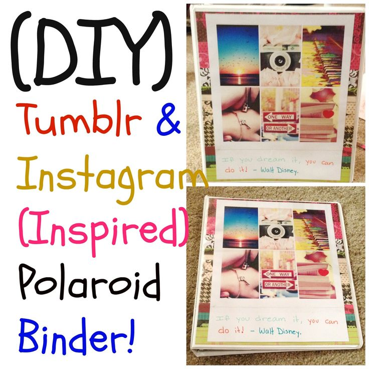 (DIY) Tumblr & Instagram (Inspired) Binder -Back To School