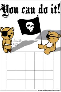 Behavior charts for boys - pirates - cool kindergarten ,preschool and daycare reward charts