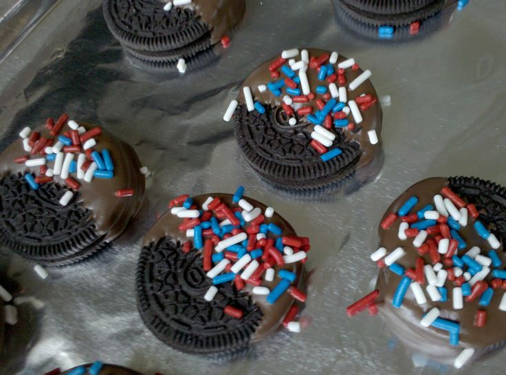 4th of july oreo cookies