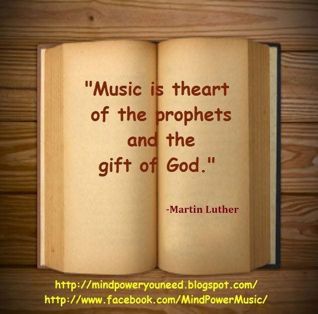 Quote Of The Day Music Is The Art Of The Prophets And The Gift Of