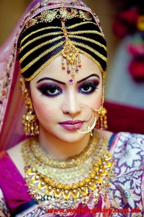 Bridal Makeup Different Cultures : Bangladeshi bride. Indian wedding jewelry. Indian ...