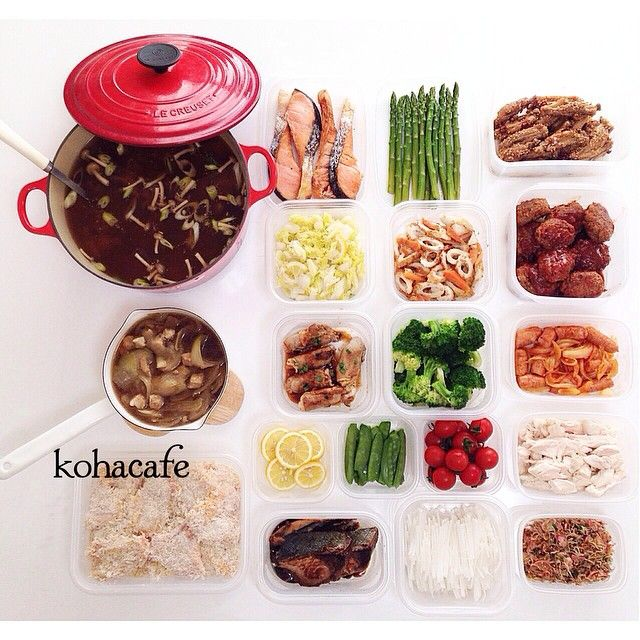 Instagram media by kohacafe - + ▹◃┄▸◂┄▹◃┄▸◂┄▹◃┄▸◂┄▹◃ ✴︎ ✴︎ 今日は暑かった〜  おひとりさま時間が 持てるようになってきたので 作り置きも少な目に… デザートもなしに… 本当は ただの手抜きですw  #kohacafe常備菜 #常備菜  Menu. ○ルク (鯵のつみれと大根と ネギの味噌汁) ○片手なべ (親子丼のたね←食べる時に温めて卵を落とします。) ○焼き塩鮭 ○ゆでアスパラ ○ピリ辛手羽先 ○白菜の塩レモン揉み ○ちくわと人参のゴマ炒め ○デミソースハンバーグ ○野菜肉巻き ○ゆでブロッコリー ○ウインナーと新玉ねぎの ケチャップ炒め ○スライスレモン ○ゆで絹さや ○洗いミニトマト ○レンチン鶏のササミほぐし ○一口ヒレカツ仕込み ○ブリの照り焼き ○大根サラダ用千切り ○ラディッシュふりかけ ✴︎ ✴︎ ▹◃┄▸◂┄▹◃┄▸◂┄▹◃┄▸◂┄▹◃