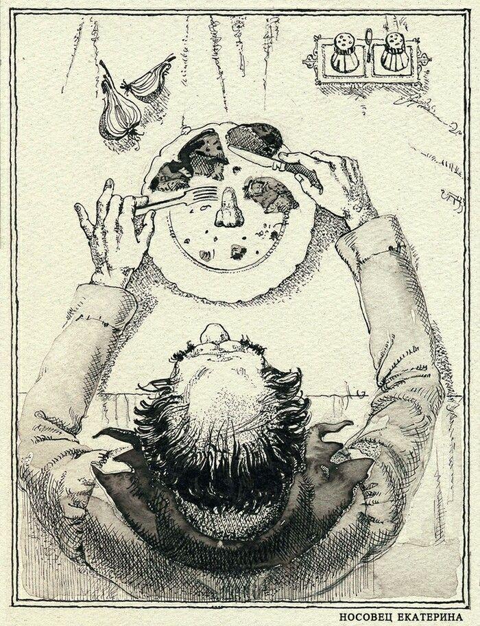 Ekaterina Nosovets  Иллюстрации  Н.Гоголь  Нос