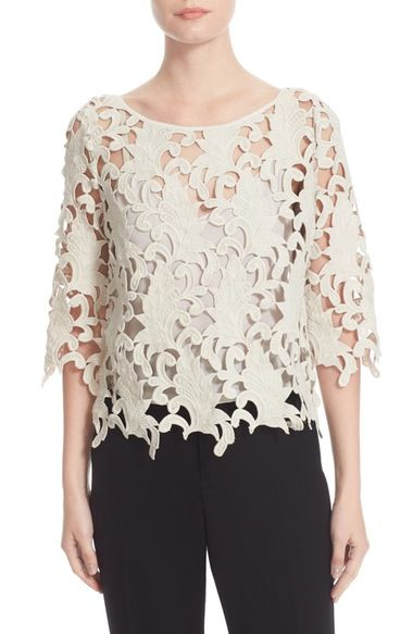 Tracy Reese Guipure Lace Top available at #Nordstrom