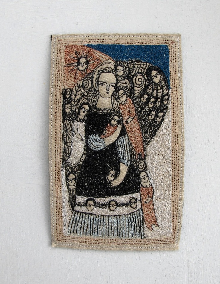 Embroidery by Cathy Cullis via Etsy