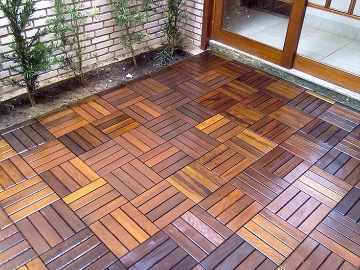 Builddirect flexdeck interlocking deck tiles wood for Garden decking squares