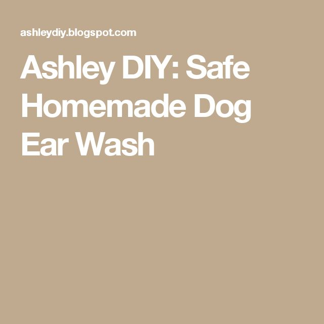 Ashley DIY: Safe Homemade Dog Ear Wash