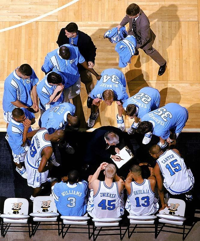 North Carolina basketball time-out from my days at UNC. Zwikker (45) is from the same small town in Holland my mom is from.