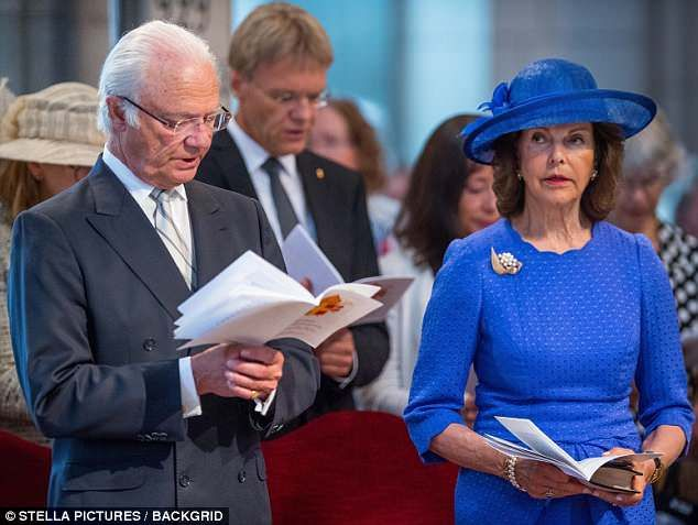 Queen Silvia Of Sweden Looks Chic For Church Service In Stockholm