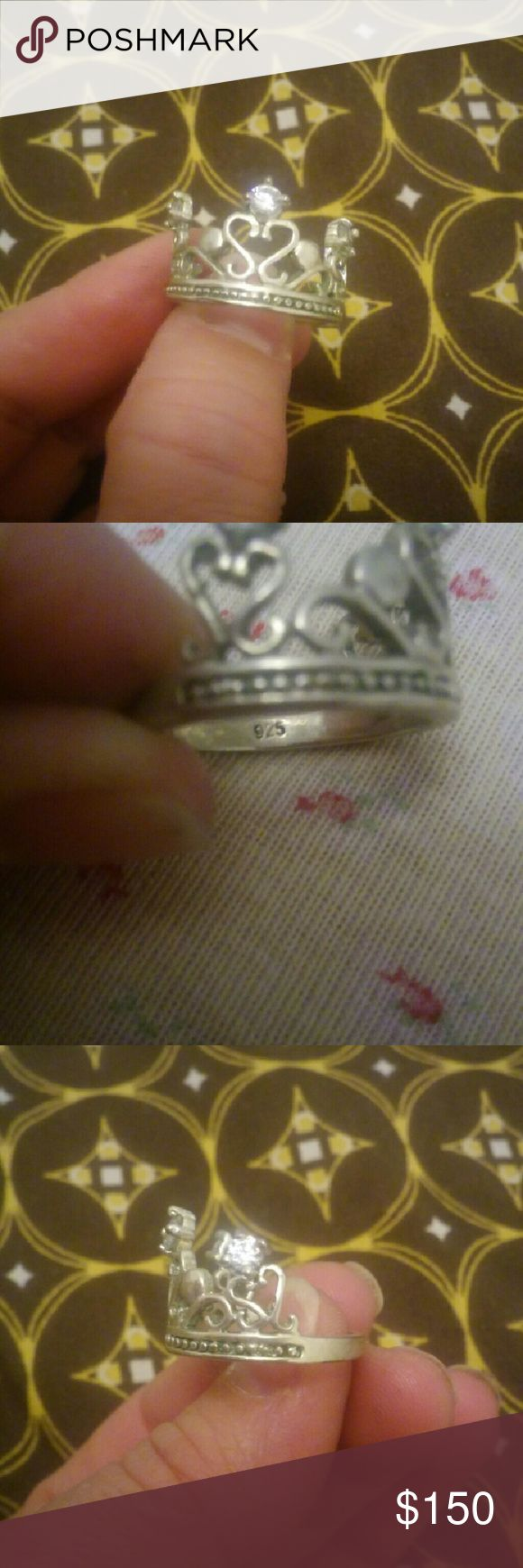 925 princess crown ring 925 princess crown ring TV 100 Jewelry Rings