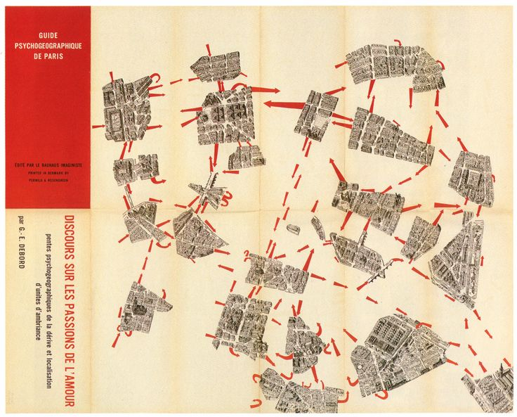 Psychogeography Map of Paris