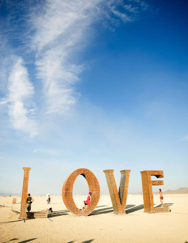 An art installation at the Burning Man festival. Photo by Andi Hatch.