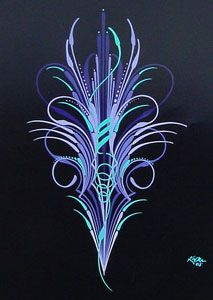 Steve Kafka's Pinstriping is Unique