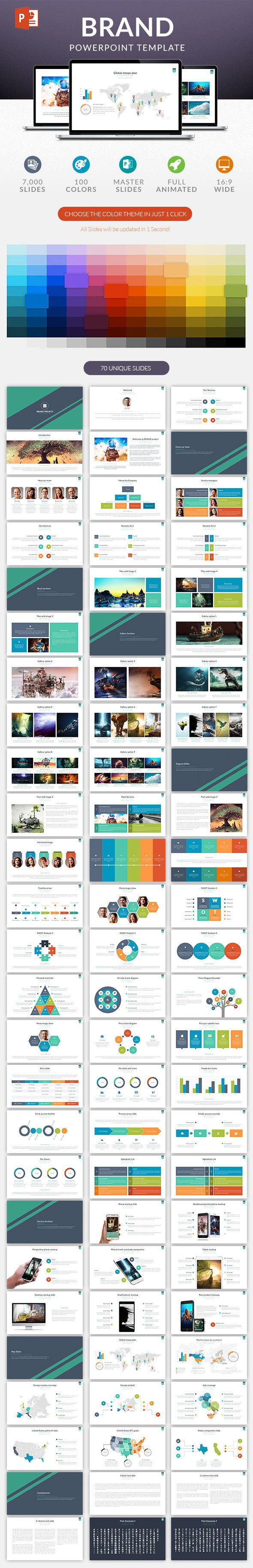 Powerpoint Template #design #slides Download: http://graphicriver.net/item/brand-powerpoint-template/13556850?ref=ksioks