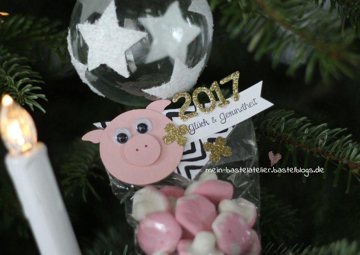 Silvester Glücksbringer Schwein Gummibären Pilze