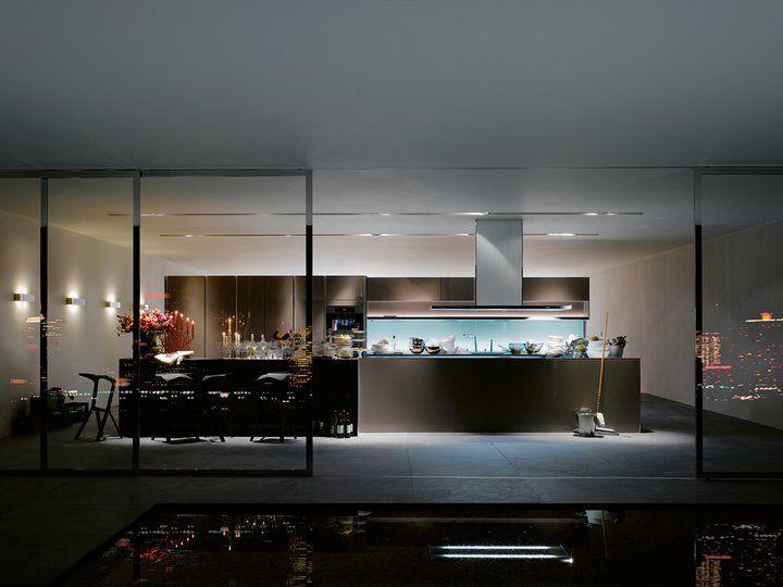 siematic kitchen with fishtank