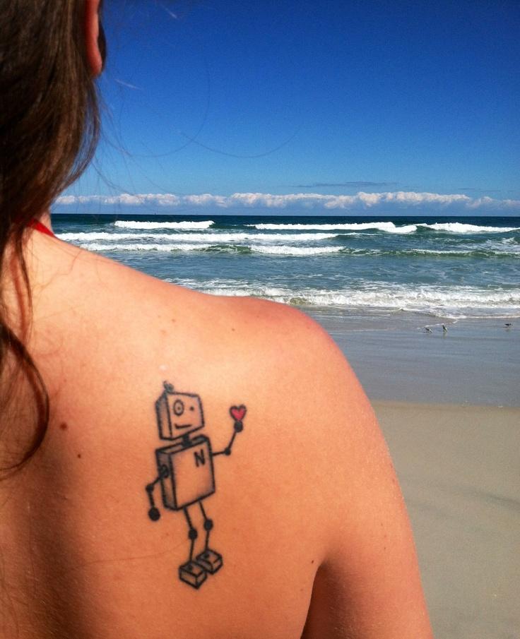Tattoo Ideas Robot: 25+ Best Ideas About Robot Tattoo On Pinterest