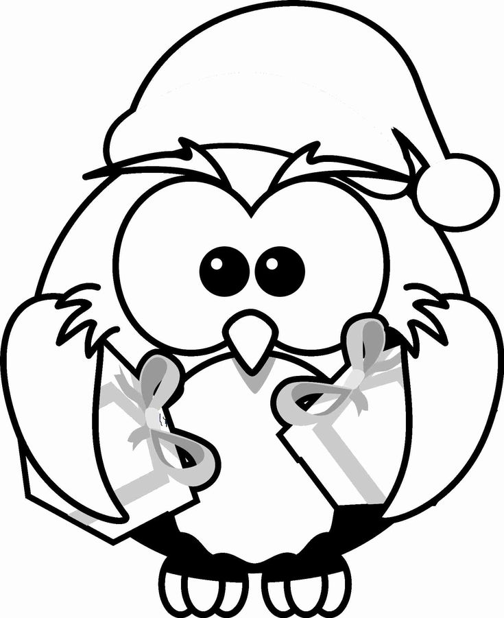 61 best images about owl coloring pages on pinterest coloring pages  coloring and owl bird Owl Coloring Pages Christmas Color by Number  Christmas Owl Coloring Page