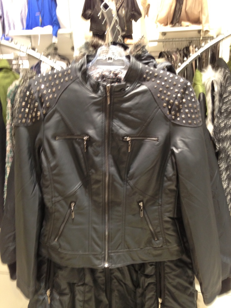 #studded#leather#biker#jacket from #NICCI