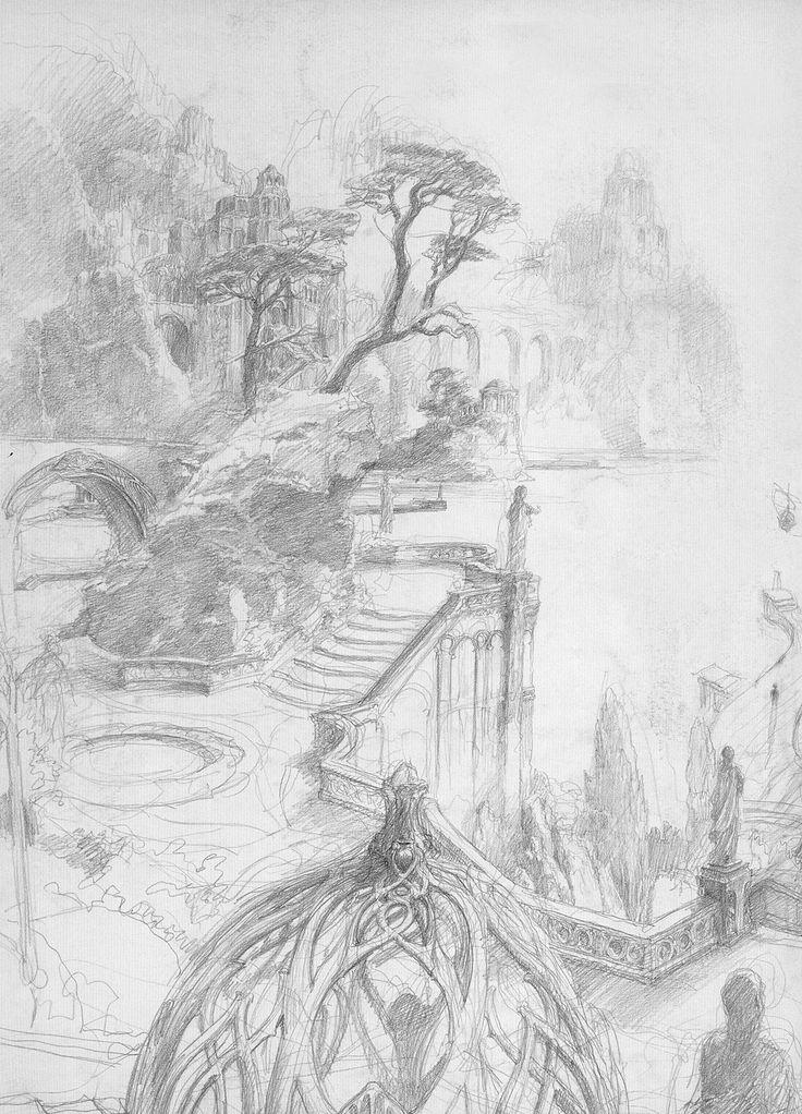 alan_lee_the lord of the rings_sketchbook_20_the grey havens01.jpg (1152×1600)