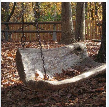 Columpio tronco