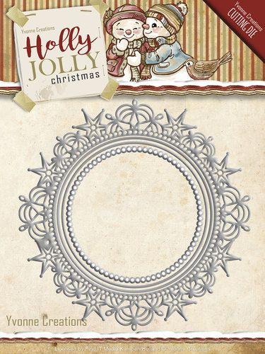 Card Deco - Die - Yvonne Creations - Holly Jolly - Nesting Frame