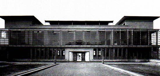 Walter Gropius. Model factory at the Werkbund Exhibition in Cologne, 1914