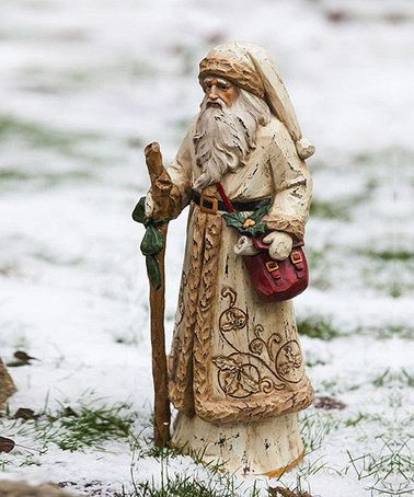 Take a look at this Gold Overcoat Santa Figurine by Evergreen on #zulily today!