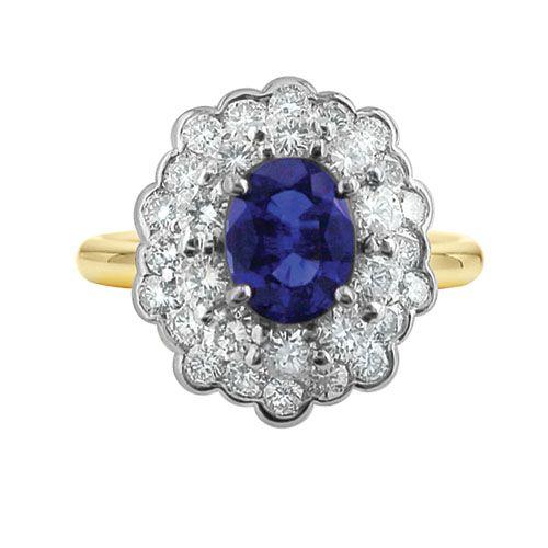 ESTATE SAPPHIRE CLUSTER RING   Howard - Fine Jewellers & Custom Designers