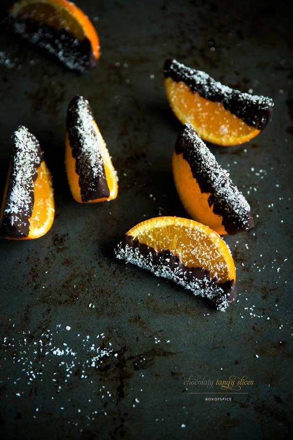 Chocolate Dipped Orange Wedges