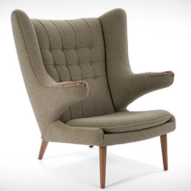 This chair is bad ass!: Interior Design, Wegner Papa, Bears, Lounge Chairs, Furniture, Hans Wegner