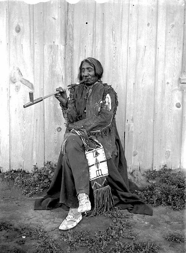 Oglala Lakota Chief Red Cloud.  1898. South Dakota. Rosebud Reservation. Photo by Jesse H. Bratley.