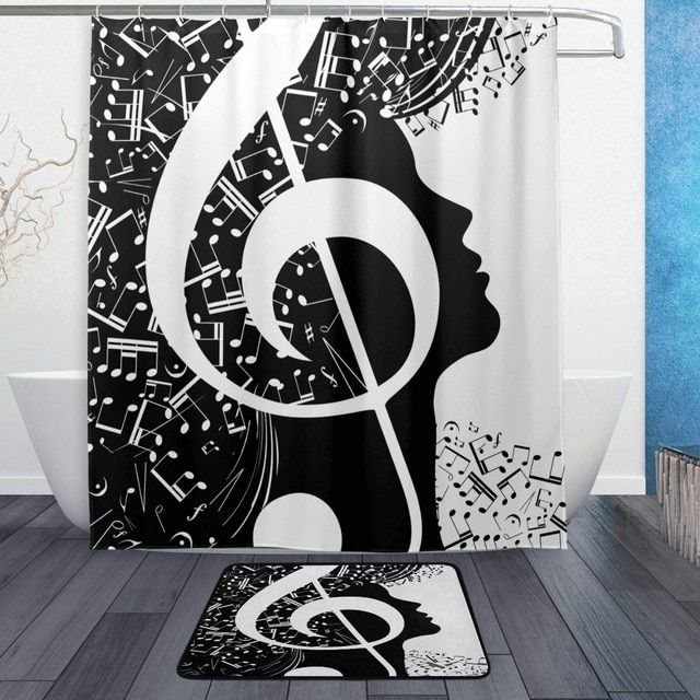 Pin By A Whole New Realm On Studio Black White Shower Curtain