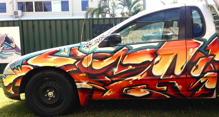 Stand out from the crowd and be the coolest cat in town. #aerosolart #graffitiart #car #ute #graffiti
