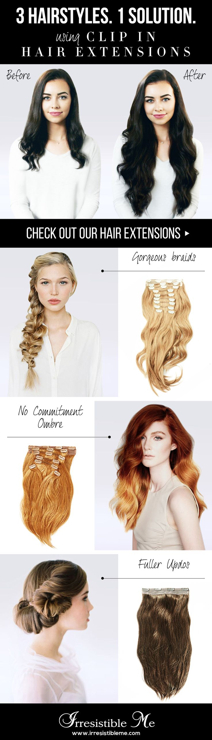 Add Length And Volume In Just Minutes With Irresistible Me 100 Human Remy Clip Hair Extensions Try Any Hairstyle You Want Without Damage To Your