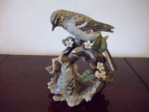 Homco Home Interior Masterpiece Porcelain Mockingbird