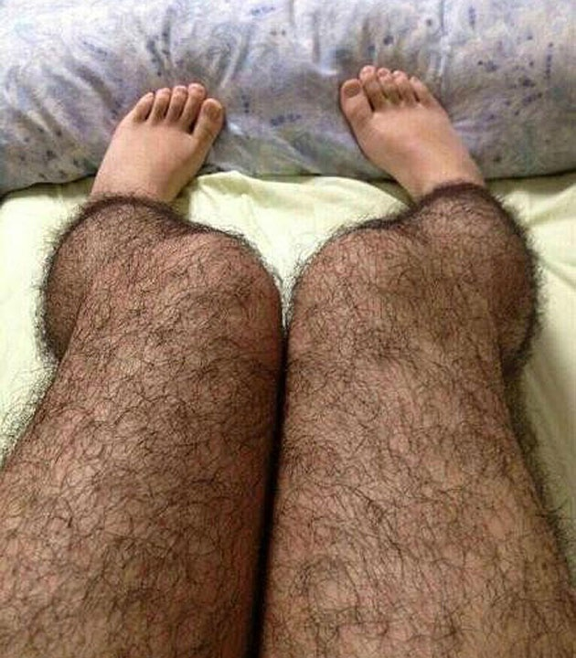 Hairy Leggings... for women who want to keep perverts away.
