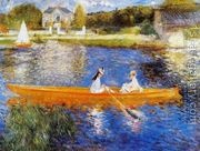 The Seine At Asnieres Aka The Skiff  by Pierre Auguste Renoir