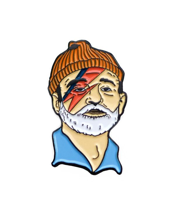 Zissou sane patch combines david bowie and bill murray.