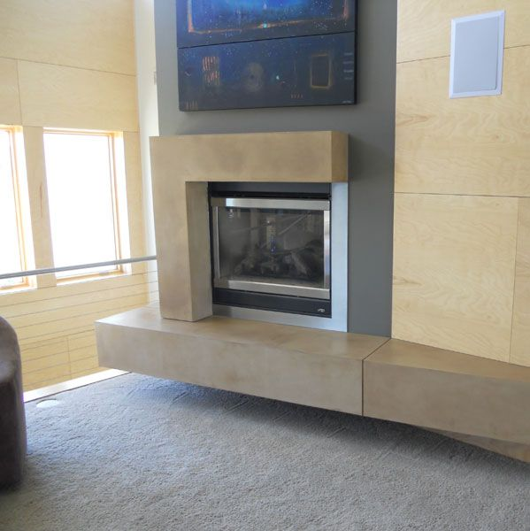 Stamped Concrete Fireplaces : Best images about decorative concrete fireplaces on