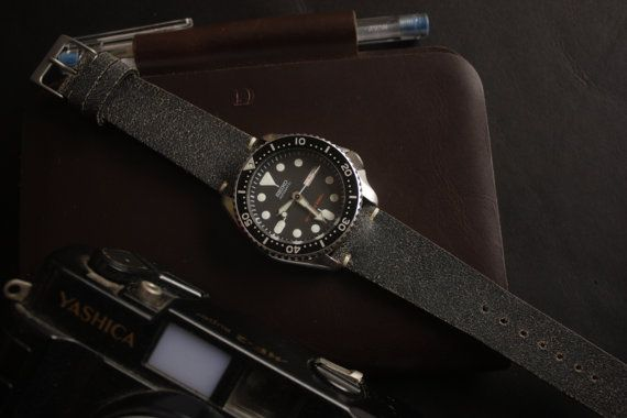 Cracked Grey Leather Watch Strap for your Rolex by SIMPLEASTRAPS https://www.etsy.com/listing/487081677/cracked-grey-leather-watch-strap-for?ref=shop_home_active_3