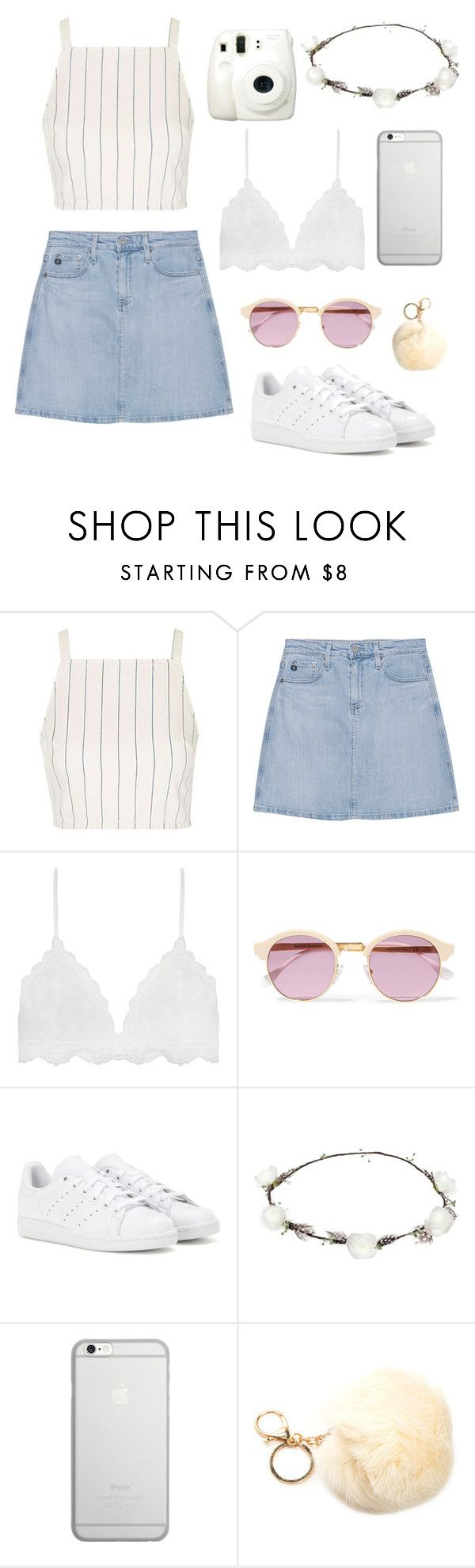 """""""classy"""" by josefiinazzz ❤ liked on Polyvore featuring Topshop, Fuji, AG Adriano Goldschmied, Sheriff&Cherry, adidas, Lipsy and Native Union"""