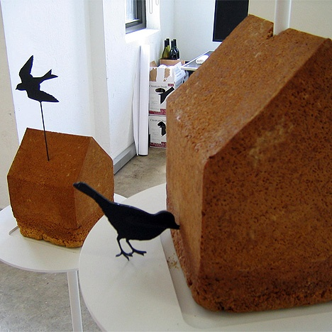 birdhouse that those little creatures can eat, baked and designed by Jeff Miller