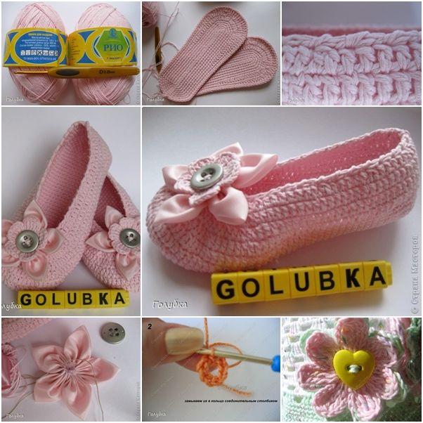 DIY Stylish Crochet Ballet Slippers
