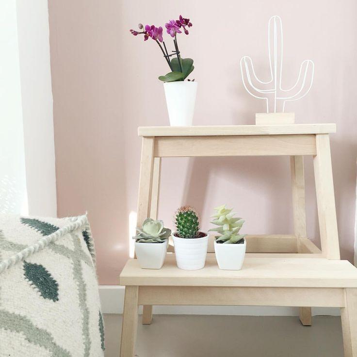 VT wonen Old Pink color Ikea Bekvam kruk Loods5  @styledbysabine